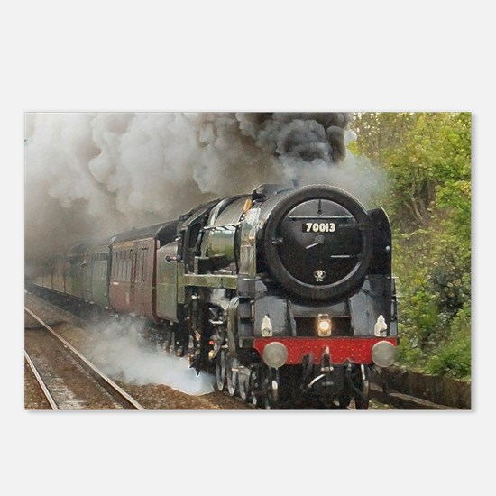 locomotive train engine 2 Postcards (Package of 8)