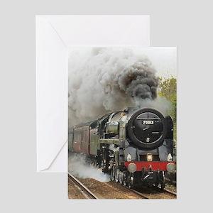 locomotive train engine 2 Greeting Cards