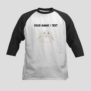 Custom White Bunny Baseball Jersey