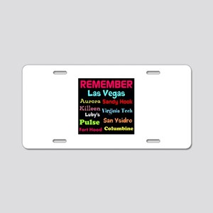 Remember Mass shootings, stop violence Aluminum Li
