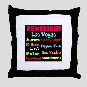 Remember Mass shootings, stop violence Throw Pillo