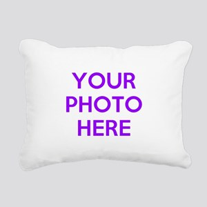 Customize photos Rectangular Canvas Pillow