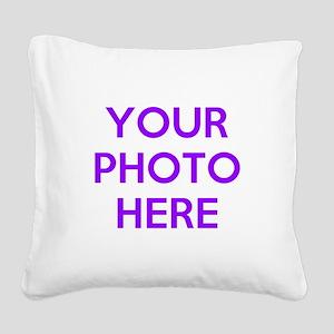 Customize photos Square Canvas Pillow
