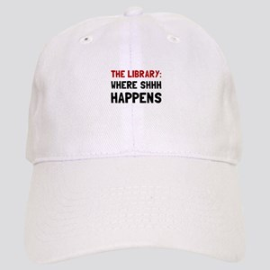Library Shhh Happens Baseball Cap