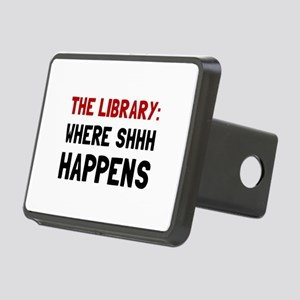 Library Shhh Happens Hitch Cover