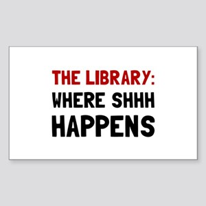 Library Shhh Happens Sticker