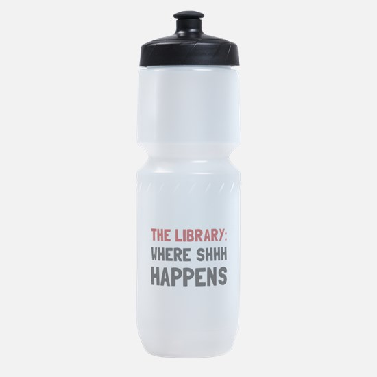 Library Shhh Happens Sports Bottle