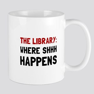 Library Shhh Happens Mugs