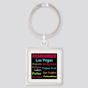 Remember Mass shootings, stop violence Keychains