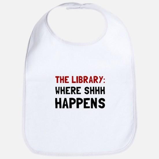 Library Shhh Happens Bib