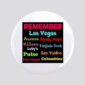 "Remember Mass shootings, stop violence 3.5"" Button"