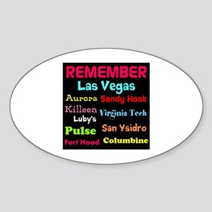 Remember Mass shootings, stop violence Sticker
