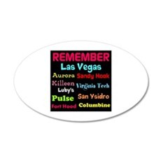Remember Mass shootings, stop violence Wall Decal