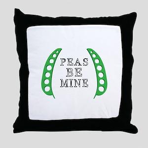 Peas Be Mine Throw Pillow