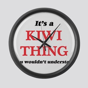 It's a Kiwi thing, you wouldn Large Wall Clock