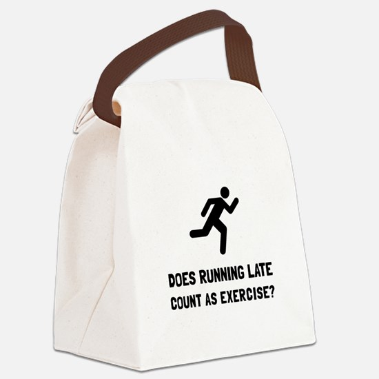 Running Late Exercise Canvas Lunch Bag