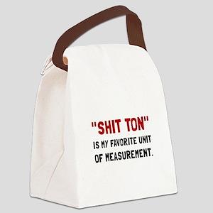 Shit Ton Measurement Canvas Lunch Bag
