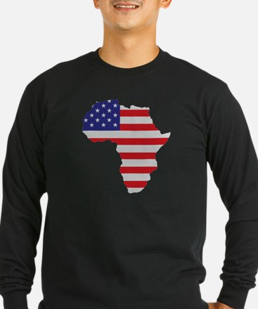 African American Africa United States Flag T