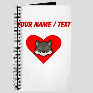 Custom Wolf Heart Journal