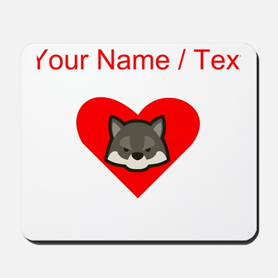 Custom Wolf Heart Mousepad