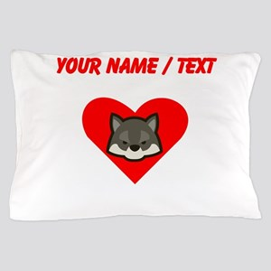 Custom Wolf Heart Pillow Case