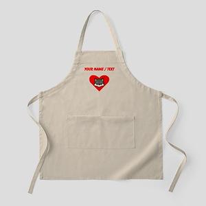 Custom Wolf Heart Apron