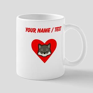 Custom Wolf Heart Mugs