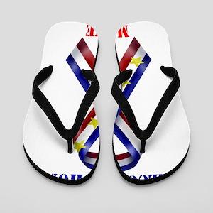 400a2e7f3 Flags Home Flip Flops - CafePress