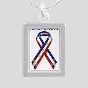 Ribbon2-marine Necklaces