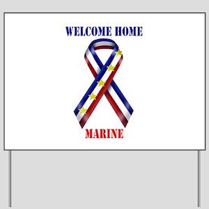 Ribbon2-marine Yard Sign