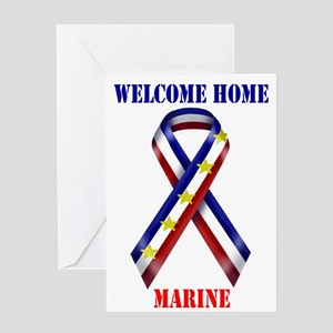 Ribbon2-marine Greeting Cards