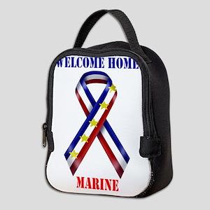 Ribbon2-marine Neoprene Lunch Bag