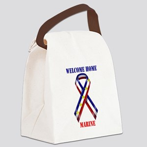 Ribbon2-marine Canvas Lunch Bag