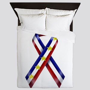 Ribbon2-marine Queen Duvet