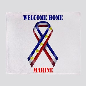 Ribbon2-marine Throw Blanket