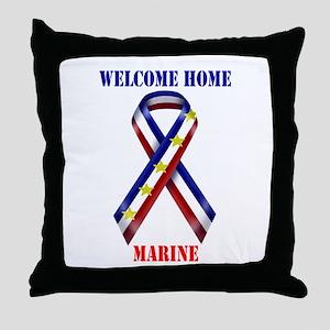 Ribbon2-marine Throw Pillow