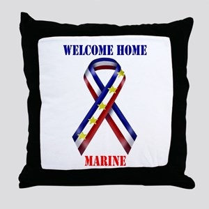 Ribbon2-marine.jpg Throw Pillow