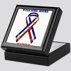 Ribbon2-marine Keepsake Box
