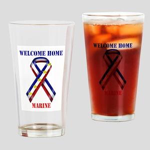 Ribbon2-marine Drinking Glass