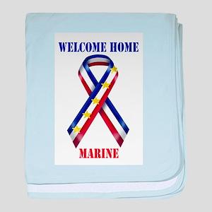 Ribbon2-marine baby blanket