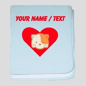 Custom Cat Heart baby blanket