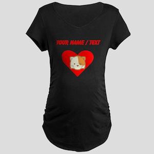 Custom Cat Heart Maternity T-Shirt
