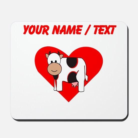 Custom Cow Heart Mousepad