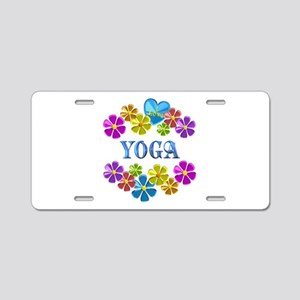 I Love Yoga Aluminum License Plate