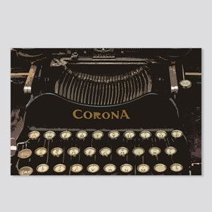 antique typewriter Postcards (Package of 8)