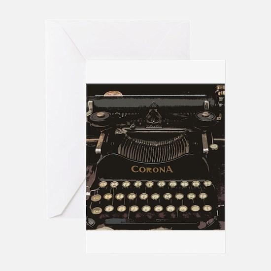 antique typewriter Greeting Cards