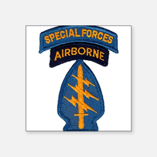 "Cute Army special forces Square Sticker 3"" x 3"""