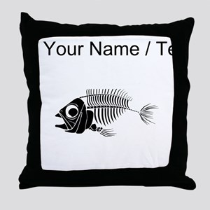 Custom Boney Fish Throw Pillow