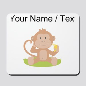 Custom Monkey Eating Banana Mousepad