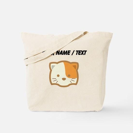 Custom Cute Cat Tote Bag